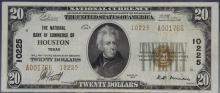 1929 $20 Houston Texas Ty. 2 NB Commerce #10225