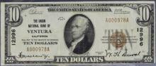 $10 1929 Union NB Ventura California Ty. 1 #12996