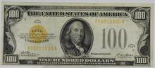 High Grade 1928 $100 Gold Certificate Fr. 2405