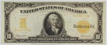 Great Condition 1907 $10 Gold Certificate Fr. 1172