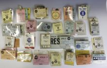Large Collection Early NASA Space Press Badges