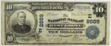 1902 $10 NB Of West Grove PA, National Bill #2669