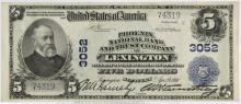 1902 $5 Lexington Kentucky National Currency Note