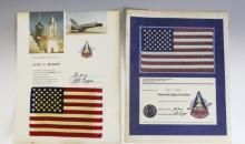 NASA STS-1 Space Shuttle Columbia Flown Flag