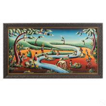 B Byron (1920-2004) Haitian Landscape Oil Painting