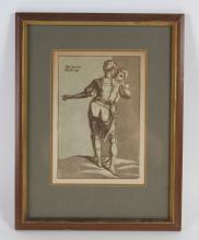 John Skippe After Del Sarto Chiaroscuro Woodcut