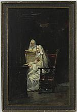 Signed Jose Gallegos Y Arnosa (1859-1917) MUSICAL NUNS Oil Painting