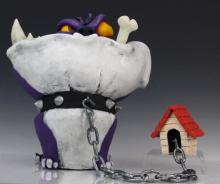 Signed OSCAR GARCIA SEGUI Bulldog Dog Limited Art Pottery Sculpture