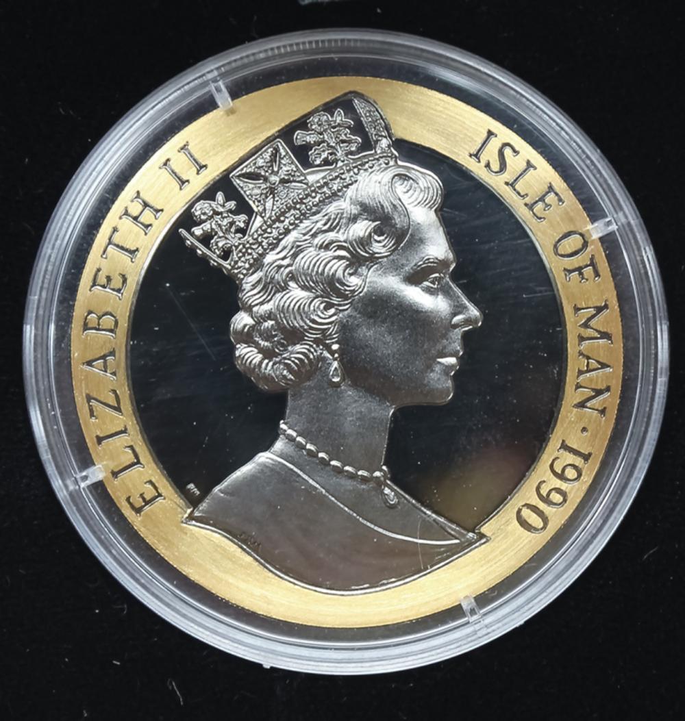 1990 1oz Gold Penny Black Isle Of Man Crown 1/1000