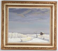 Melvin Warren American Winters Landscape Painting