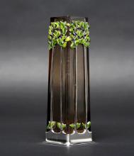 Georg Adam Scheid Enameled Silver Art Nouveau Vase