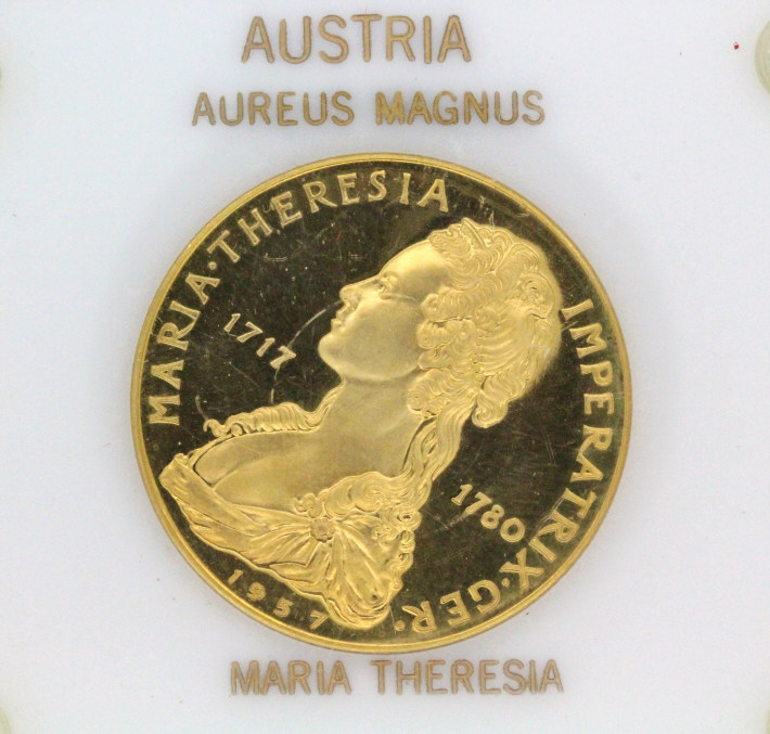 Com. Austrian Maria Theresia Gold Coin 1 Troy Oz.