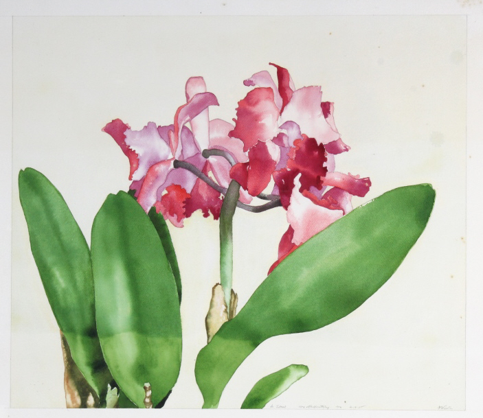 Joe Nicastri Floral Original Watercolor Painting