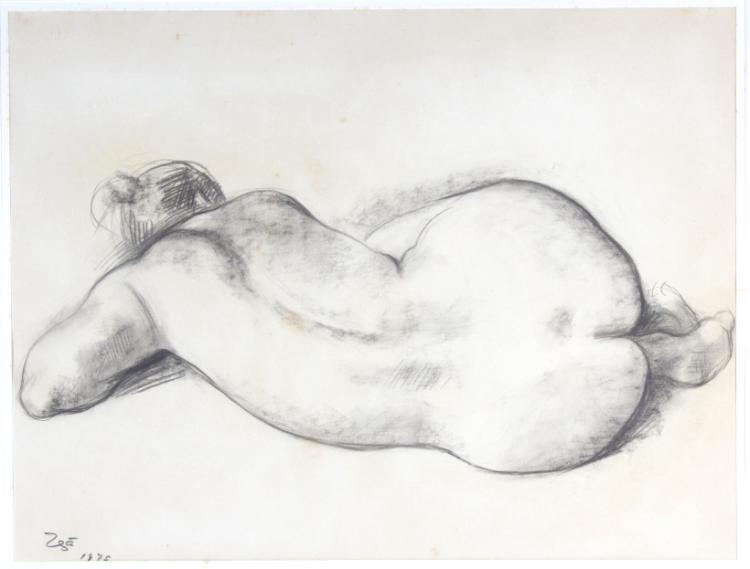 Francisco Zuniga Charcoal Original Drawing LISTED