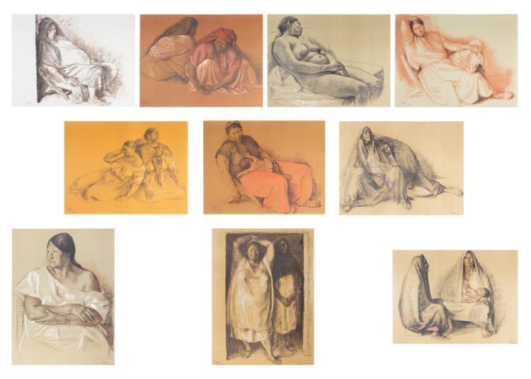 Francisco Zuniga Partial Portfolio of 10 Prints