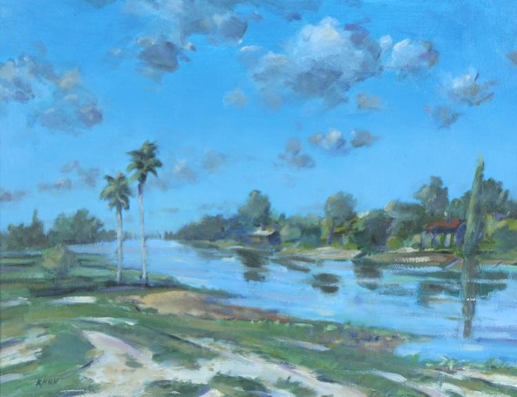 Kenneth Kahn Florida Landscape Oil Painting LISTED