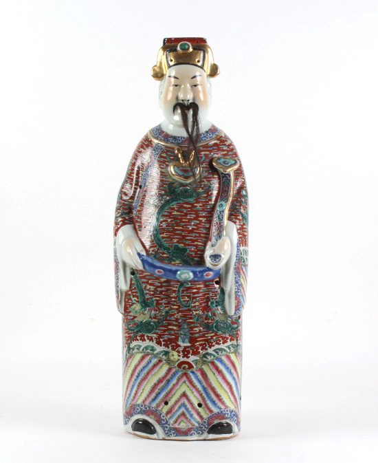 Old Chinese Porcelain Wise Man Scholar Statue 26