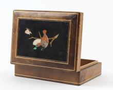 Love Birds Pietra Dura Gemstone Mosaic Top Box 6