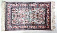 FINE Oriental Hand Knotted Silk Prayer Rug 48x31