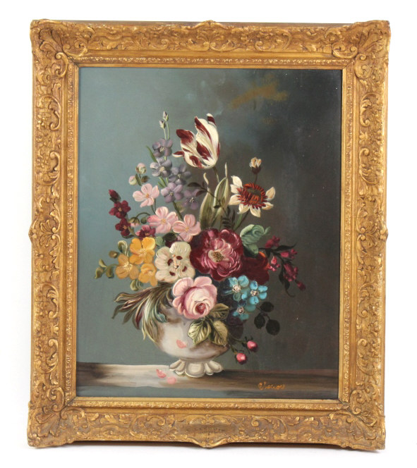 Signed Lecroix Floral Still Life Painting LISTED