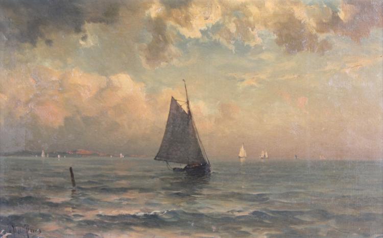 Mauritz Frederik Hendrick De Haas (1832 - 1895) Marine Seascape Oil Painting