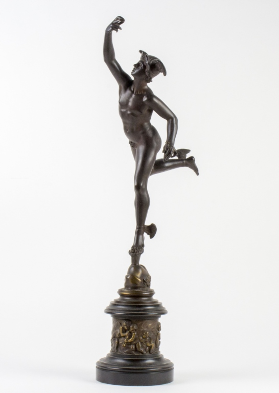Antique Bronze Sculpture Statue of Mercury 28
