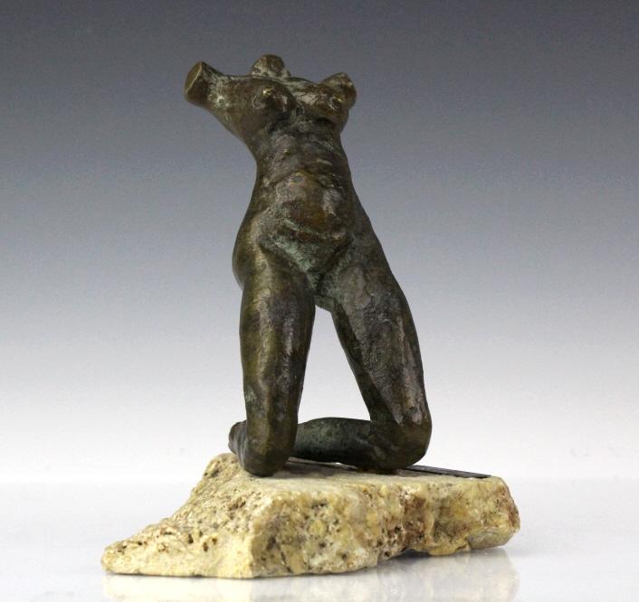 Fine Mystery Artist Nude Female Bronze Sculpture