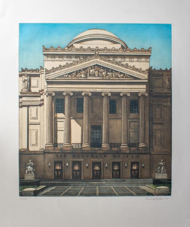 Richard Haas Brooklyn Museum L/E Print BASS MUSEUM