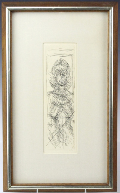 Alberto Giacometti Annette de Face Etching FRAMED