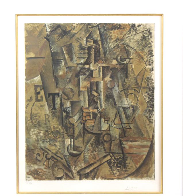 Pablo Picasso La Bouteille de Rhum Collotype Print