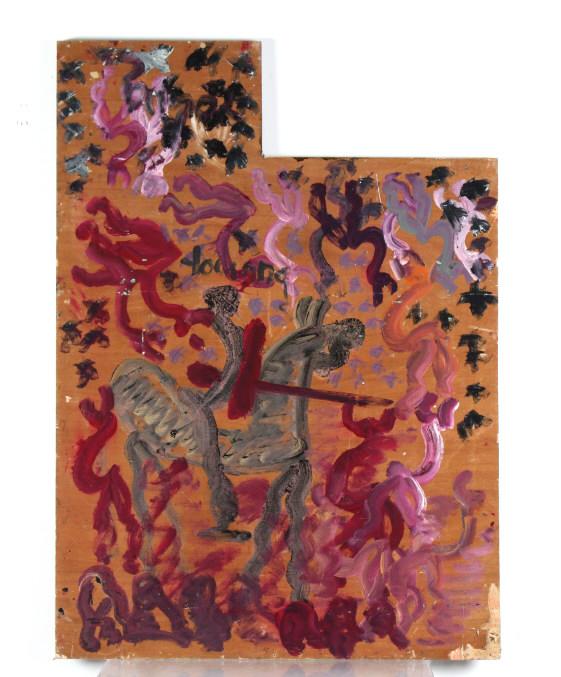 Purvis Young Zulu Outsider Urban Folk Art Painting