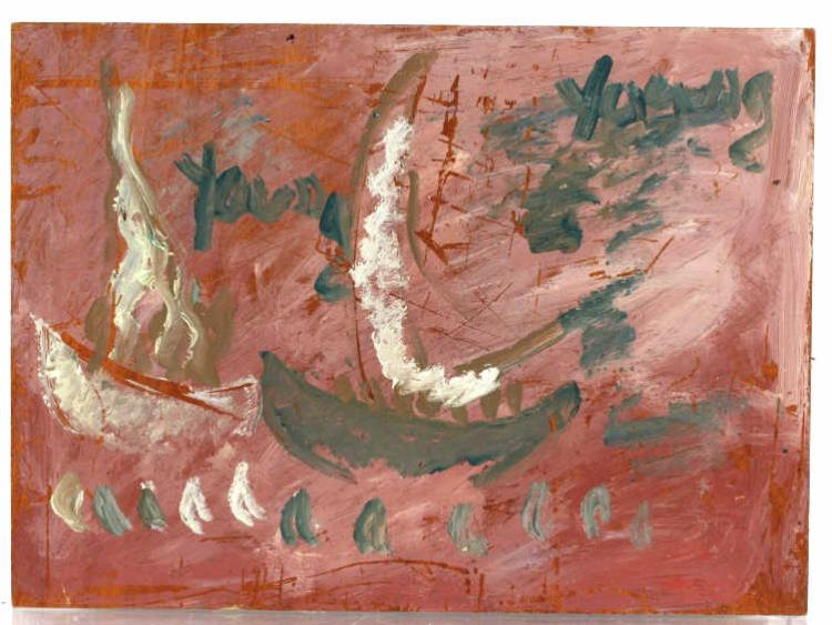Purvis Young Troubled Waters Outsider Art Painting