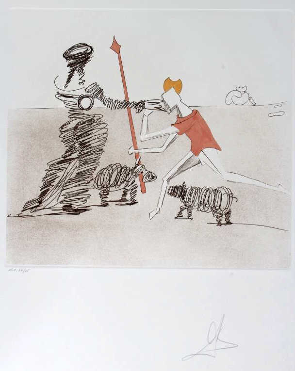 Salvador Dali PASTORAL HC Etching Arches SIGNED