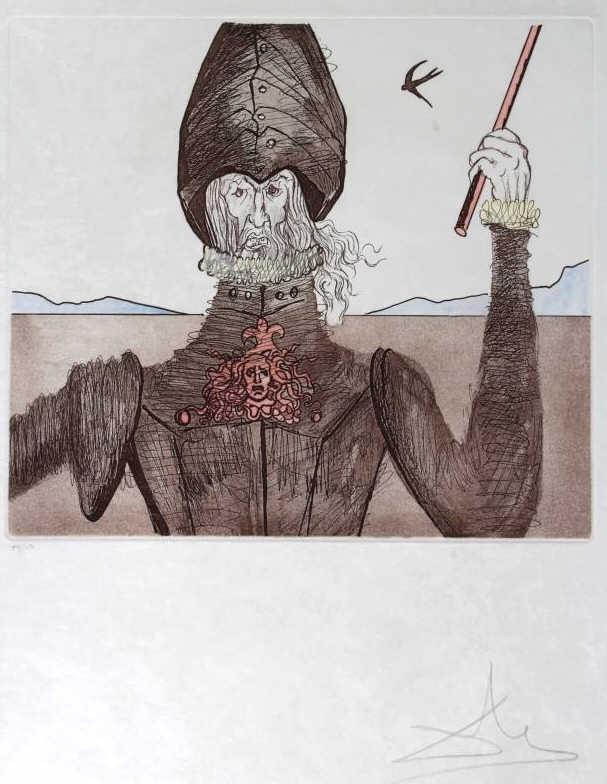 Salvador Dali DON QUIXOTE, DREAMER Etching, SIGNED