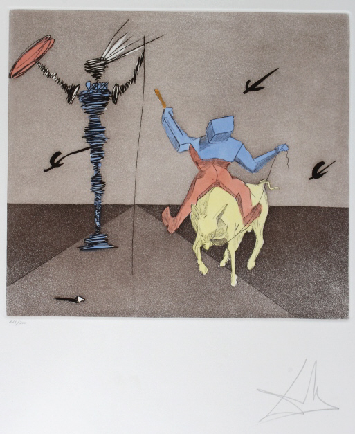 Signed Salvador Dali MASTER SQUIRE Etching SIGNED