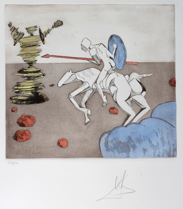 Salvador Dali THE QUEST LE Etching Arches SIGNED