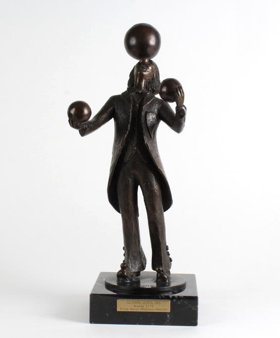 Prince Monyo Clown Juggling Bronze Sculpture 20