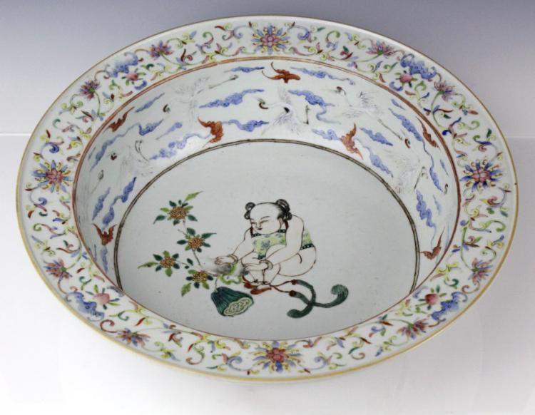 Antique Chinese Enamel Figural & Crane 15