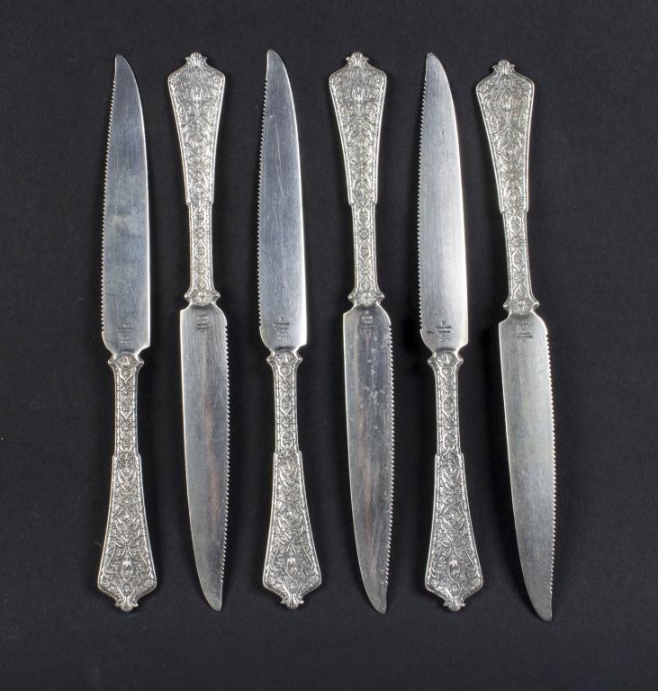 6 Tiffany & Co Sterling Silver PERSIAN Fruit Knife