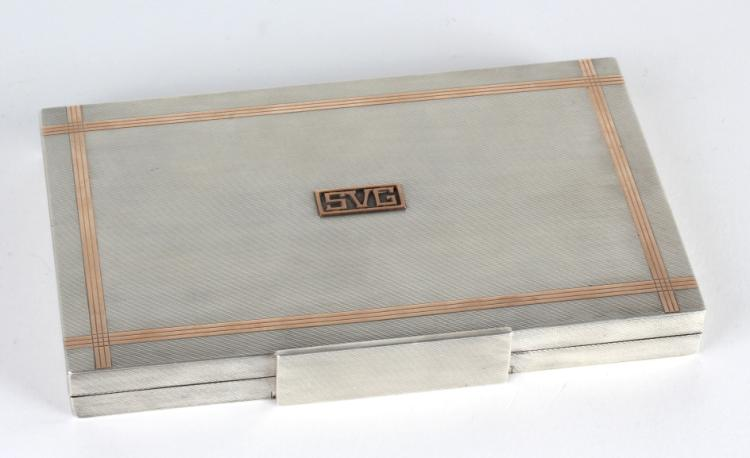 ASPREY & CO Sterling Rose Gold Cigarette Box Case