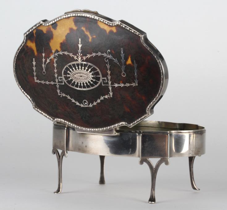 Mappin & Webb English Sterling Silver Lidded Box