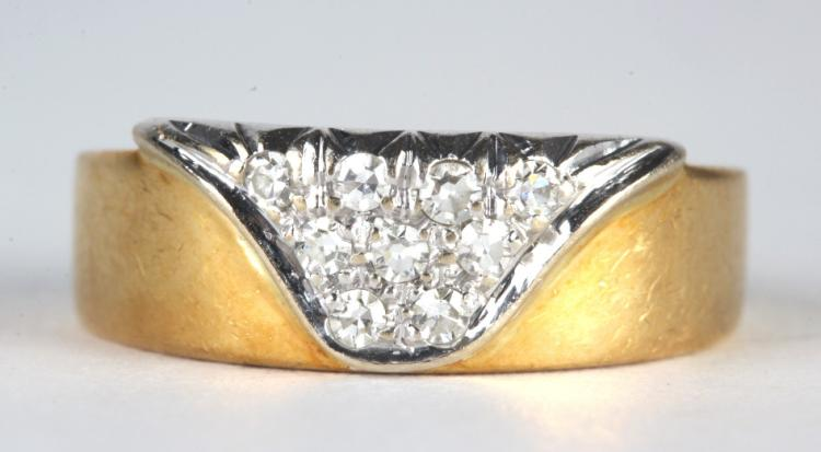 FINE Cartier France Diamond & 18k Gold Ring Size 6