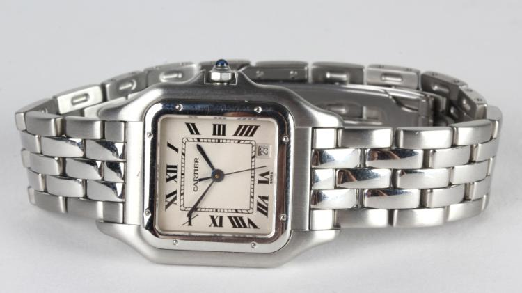 Cartier Stainless Steel Panthere Date Watch 1310