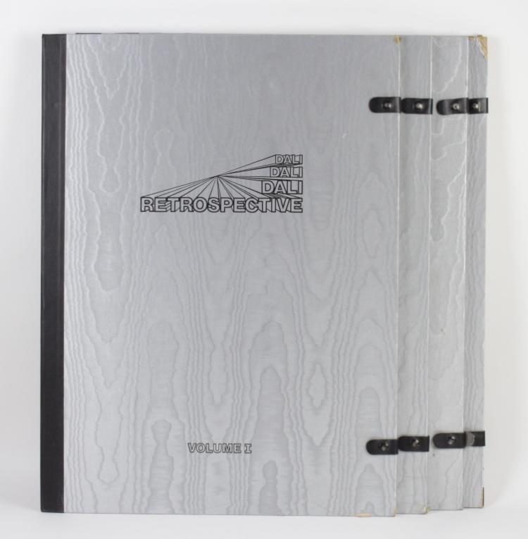 Salvador Dali RETROSPECTIVE Suite Of 4 Lithograph