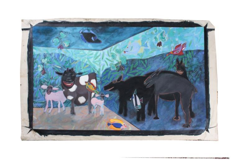 Scott Miller 48x82 Surrealist Painting BASS MUSEUM