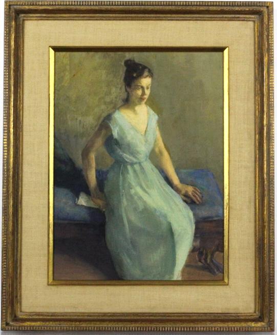 IVAN OLINSKY Social Realism Portrait Oil Painting