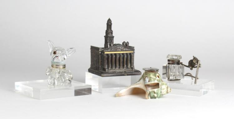ESTATE LOT of 3 Figural & Architectural Inkwell