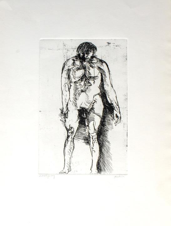 Leonard Baskin Prophetic Man A/P Print BASS MUSEUM