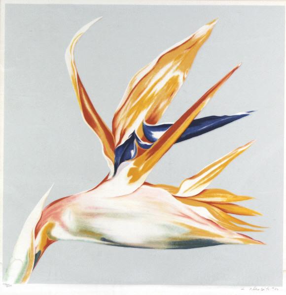 Lowell Nesbitt BIRD OF PARADISE L/E Serigraph