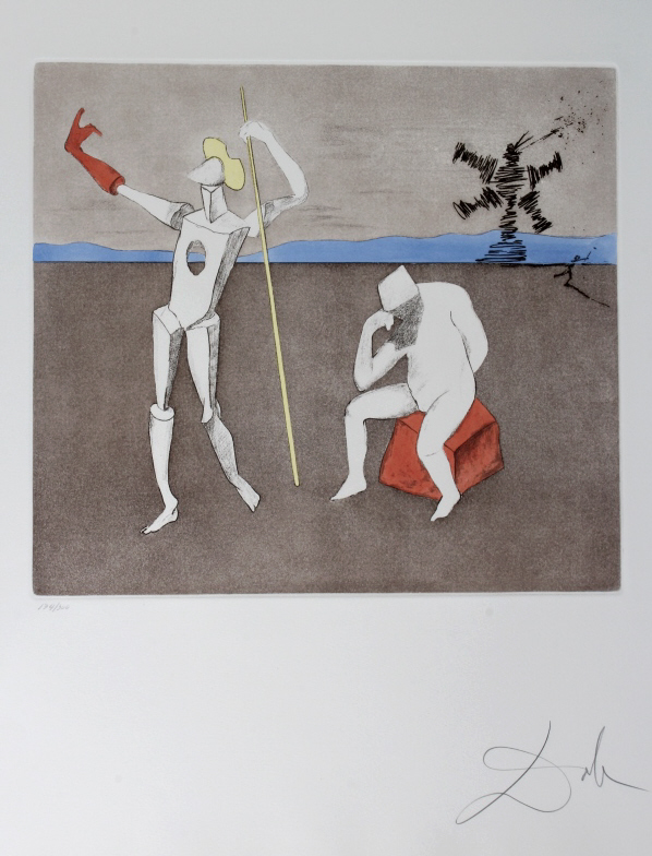 Salvador Dali POWER OF THOUGHT L/E Etching SIGNED